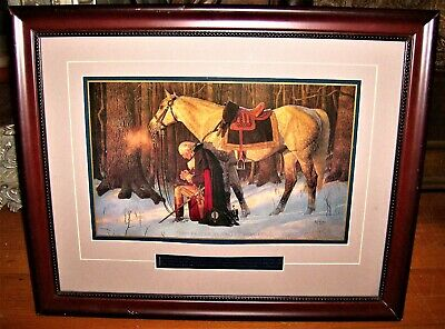 Arnold Friberg - The Prayer At Valley Forge - George Washington w/ Cert of Auth.