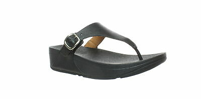 FitFlop Womens The Skinny Deluxe T-Strap Wedge Sandals