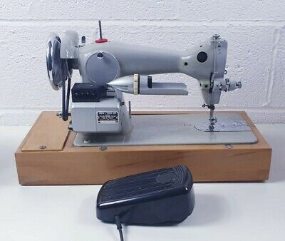 Sew-Tric Ltd Grey Vintage Sewing Machine with Case and foot pedal fully working