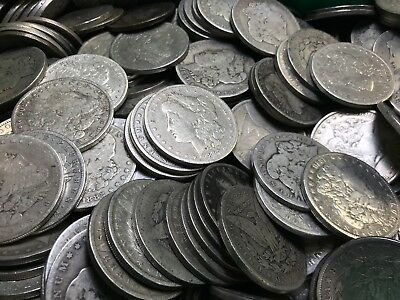 Pre 1921 Silver Morgan Dollar Cull Lot of 100 S$1 Coins *Credit Card Pmt Only