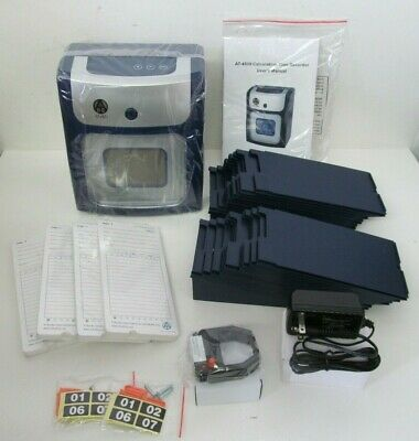 Allied AT-4500 Calculating Punch Time Recorder Bundle