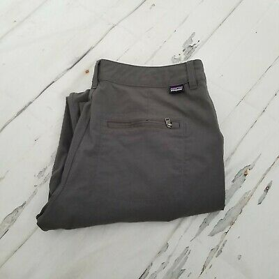 Patagonia Women Quandary Quandry Convertible Roll Up Pants Hiking Gray Size 6