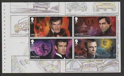 GB 2020 Two Booklet Panes ex James Bond Prestige Stamp Book DY33 MNH