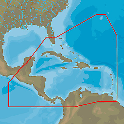 C-MAP 4D, Caribbean and Central America