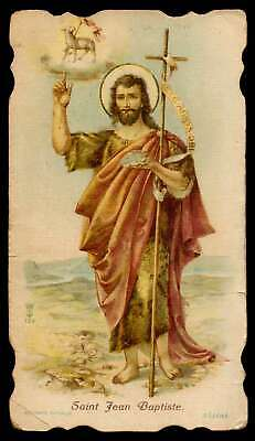 ST AGNES OF ROME w/ LAMB IN THE GARDEN Old HOLY CARD - $6.50 ...