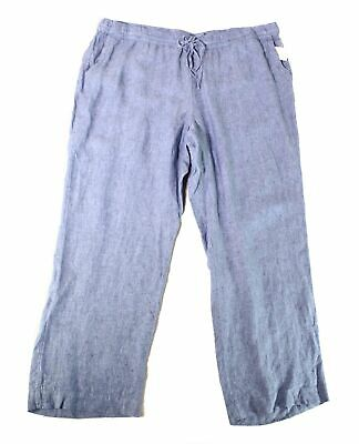 Charter Club Womens Pants Blue Ocean Size 0X Plus Pull-On Stretch $79 343