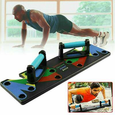 9 in 1 Push Up Rack Board System Fitness Workout Train Gym Exercise Stands MAD