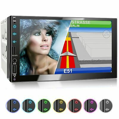 Autoradio mit Navi GPS USB SD Bluetooth 7 Zoll Touch Monitor MP3 Wma Mpeg4 2din