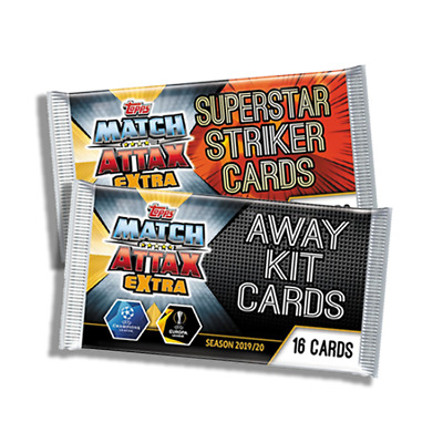 Match Attax Extra 2019/20 Superstar Strikers & Away Kit Exclusive Packets 1-16