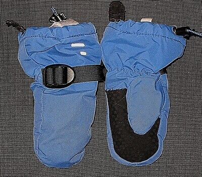 Lands' End Blue Nylon Mitts Mittens Girl's Boy's Toddler Size Xs 4 5 6