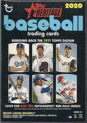 2020 Topps Heritage Baseball Factory Sealed Blaster Box