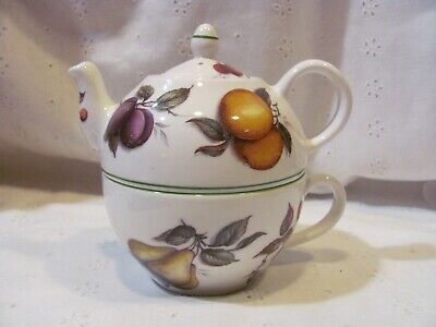 Lane End Pottery Fine Bone China England Fruit Motif Tea For One Teapot