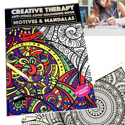 Creative Therapy - Adults Colouring Book - Large A4 - Anti-Stress Activity Fun
