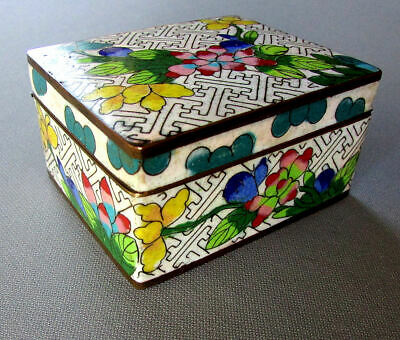 Small ANTIQUE Chinese CLOISONNE BOX