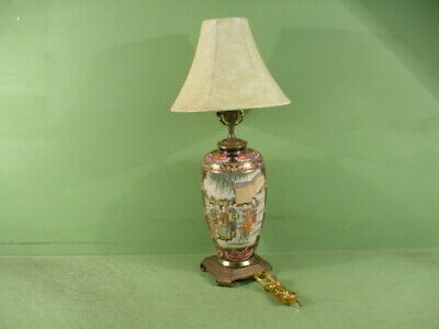 Old Vintage Antique Japanese or Chinese Cloisonne Vase Lamp Women & Instruments