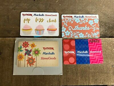 TJ Maxx HomeGoods Marshalls Gift Cards w/ $105.87 Value ACTIVATED Card will Ship