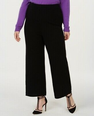 Charter Club Women's Black Size 3X Plus Pull On Pants Cashmere Stretch $189 #070