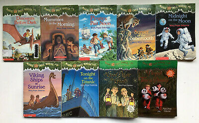 Lot of 9 Magic Tree House Home School Children's Chapters Books Adventure