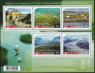 Canada sc#2857 UNESCO World Heritage Sites in Canada 2015, Reprint SS, Mint-NH