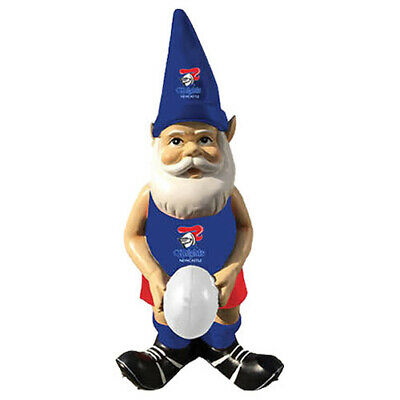 Newcastle Knights NRL Garden Gnome Statue with White football Easter Gift 2020