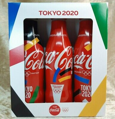 Japan Coca Cola 2020 Olympic Tokyo Limited 250ml Full Bottle 3 Types Set