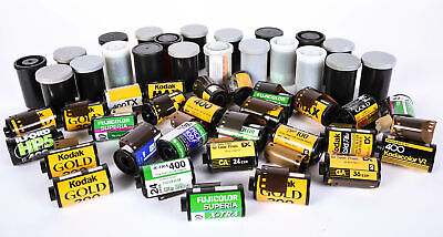 Lot of (50) 35mm Print Film Color and Black&White (Various Brands) Expired *AI*