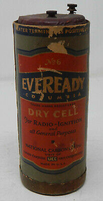 No. 6 Eveready Columbia Dry Cell Antique Battery 1931
