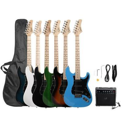 New Glarry Practice Beginner Basswood Electric Guitar with Bag & 20W Amplifier