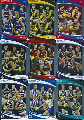 2020 afl teamcoach checklist trading card you choose your card