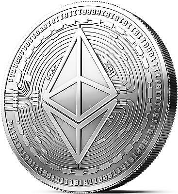 2020 Silver Plate Ethereum Coin Collectible BTC Art Collection Gift Physical AU