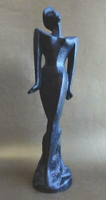 Retro! 1980s Australian Pottery Standing Female figure with Power Shoulders!