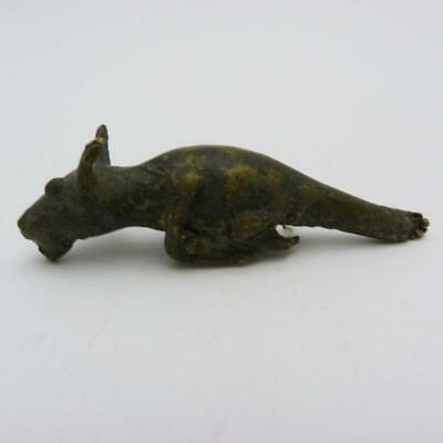 Archaic Chinese Mythical Creature Bronze Scroll Weight