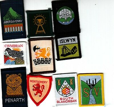 Boy Scout Badges WELSH DRAGONS Wales x 2 larger variety