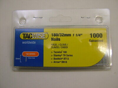 2nd fix collated galvanised straight brad finish nails 18 gauge 32mm box of 1000