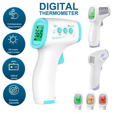 Infrared contactless thermometer Non Contact Digital Body Adults Forehead Gun fb