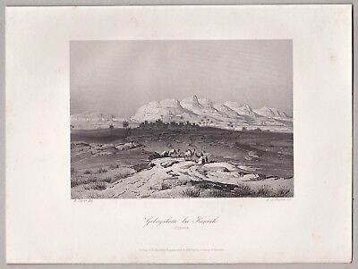 Qina, Kaine Oberägypten, Panorama, - A.H.Payne Stahlstich, Engraving, 1850