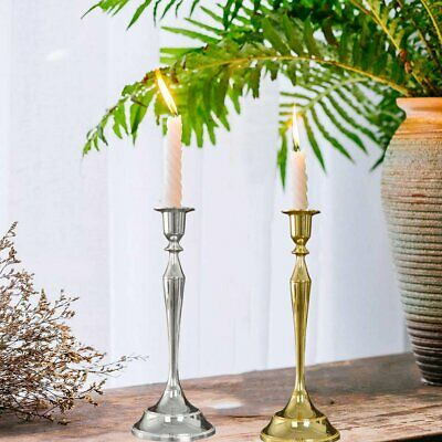 2X Metal Candle stick Candle Holders Tall Elegant Wedding Centrepiece Decor MT