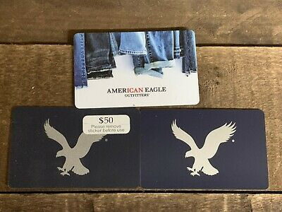 American Eagle Gift Card w $126.09 Value ACTIVATED Physical Card will be Shipped