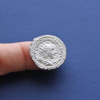 Imperial Roman Silver Coin Antoninianus Of Gordian 3rd c 238 AD