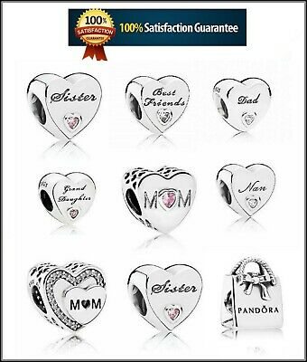 Genuine Silver Pandora Moments Daughter Wife Mum Sister Friend Charm S925 Ale
