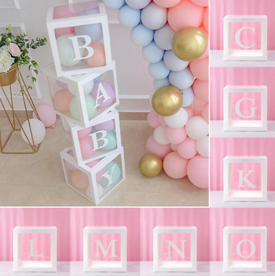 Customize Transparent Balloon Letter Box for Birthday Parties, Gender Reveal etc