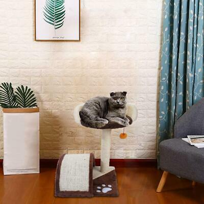 """M2B 19"""" Scratching Post Cat Tree House Condo Tower Play Kitty Climbing Furniture"""