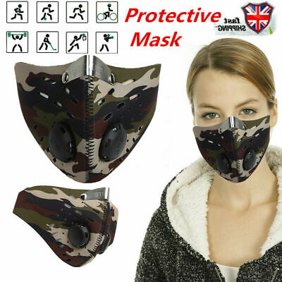 Fitness Mask Motorcycle Bike Cycling Anti-Pollution Half Face Dust Mask Filter
