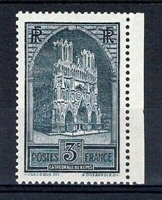 """FRANCE STAMP TIMBRE YVERT N° 259 """" CATHEDRALE REIMS 3F TYPE I """" NEUF xx TTB V678"""