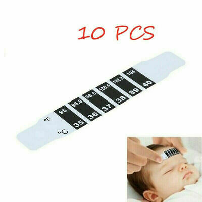 1-10Pcs Check Temperature Forehead Thermometer Fever Scan Strip Baby Child Adult