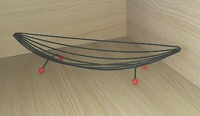 Vintage 1950s/1960s  Mid Century Painted Metal Wire Fruit Bowl Atomic