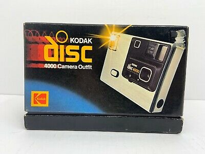 Kodak Disc 4000 Camera Outfit New In Box-vintage 1980's
