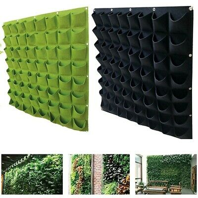 Green Vertical Grow Bag Garden Planter Funny Wall-mounted Planting Flower Pot UK