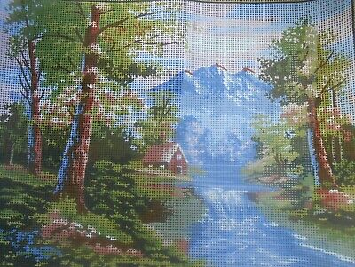 """Collection D""""Art """"Mountain Cascades"""" Tapestry Canvas Only"""