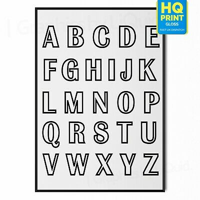 Alphabet Animals Kids Learning English Teaching  A4 260gsm Education
